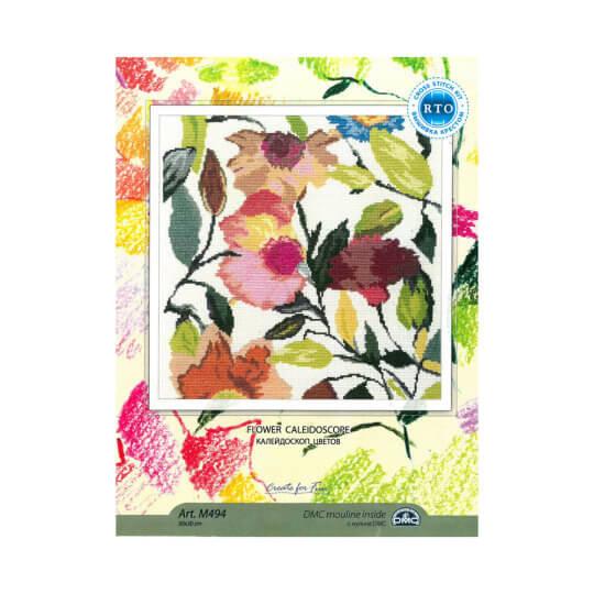 RTO Baltic 30 x 30 cm Renkli Çiçek Desenli Etamin Kiti - M494