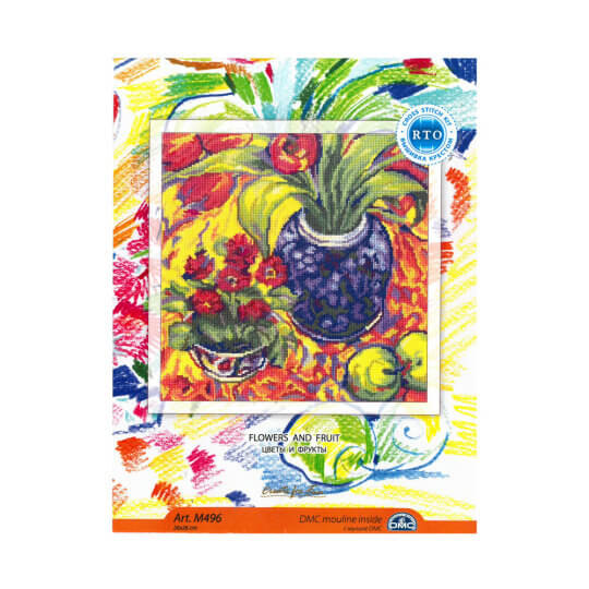 RTO Baltic 26 x 26 cm Çiçekler ve Meyveler Desenli Etamin Kiti - M496