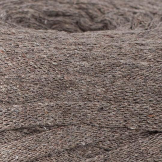 Spagettiyarn Ribbon Cotton Fabric Yarn, Dark Beige - 9