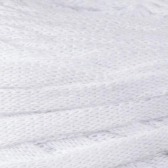 Spagettiyarn Ribbon Beyaz El Örgü İpi - 1