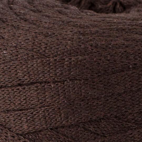 Spagettiyarn Ribbon Cotton Fabric Yarn, Brown - 11
