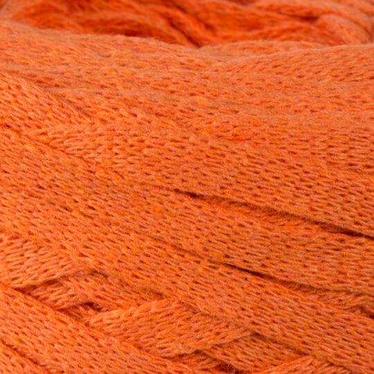 Spagettiyarn Ribbon Cotton Fabric Yarn, Orange - 26