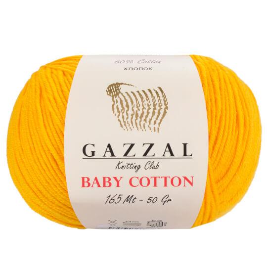 f71b01d19e Gazzal Baby Cotton Hardal Sarısı Bebek Yünü - 3417