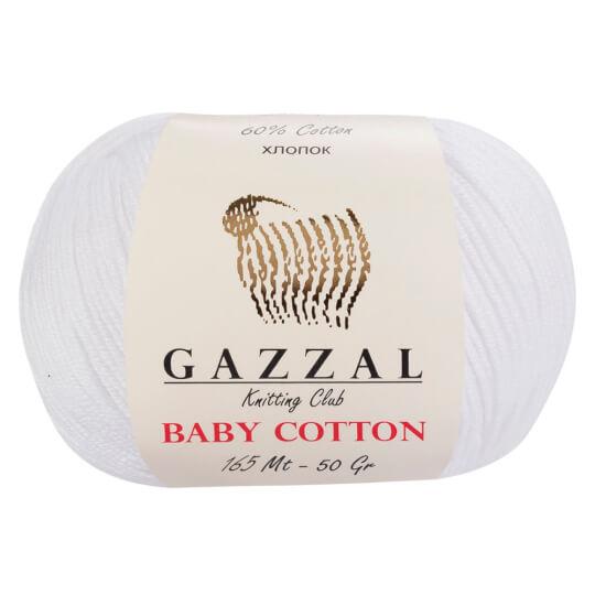 Gazzal Baby Cotton Beyaz Bebek Yünü - 3432