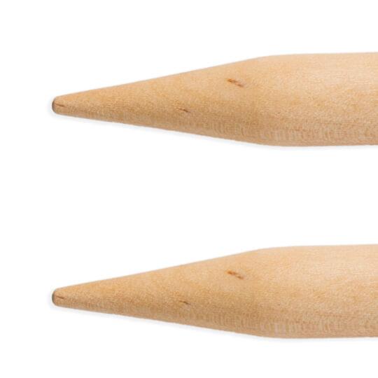KnitPro Basix Birch Huş Ağacı 10mm 80cm Misinalı Şiş - 35337