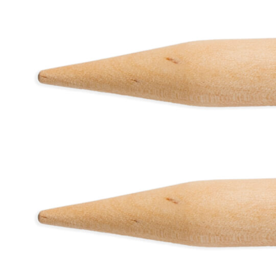 KnitPro Basix Birch Huş Ağacı 10mm 100cm Misinalı Şiş - 35347