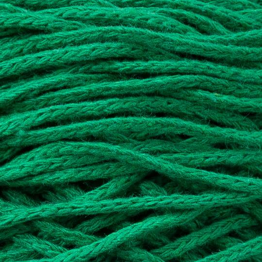 Spagettiyarn Pamuklu Makrome Yeşil El Örgü İpi - 15