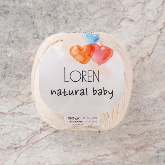 Loren Natural Baby Krem El Örgü İpi - R083