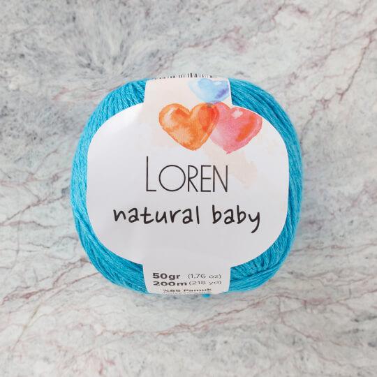 Loren Natural Baby Turkuaz El Örgü İpi - R091