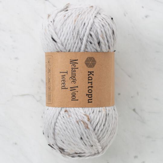 Kartopu Melange Wool Tweed Gri El Örgü İpi - M1426