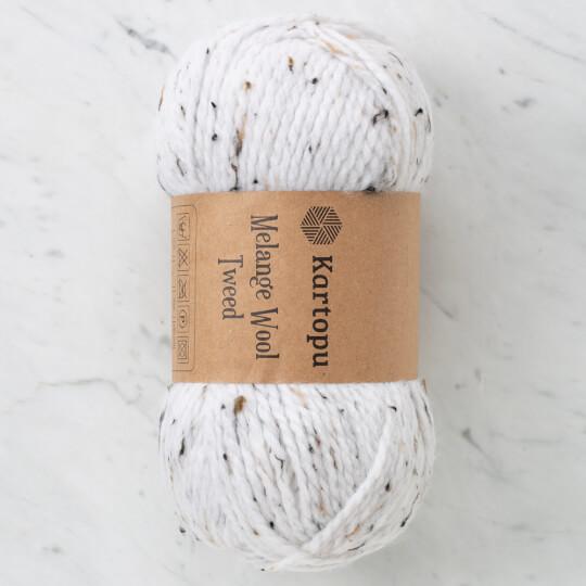 Kartopu Melange Wool Tweed Kırık Beyaz El Örgü İpi - M1379