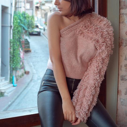 La Mia Wool Easy Gri El Örgü İpi - L206