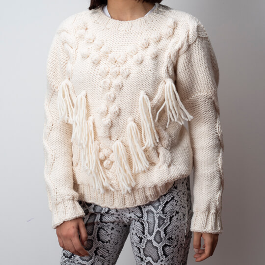 Kartopu Cozy Wool Krem El Örgü İpi - K025