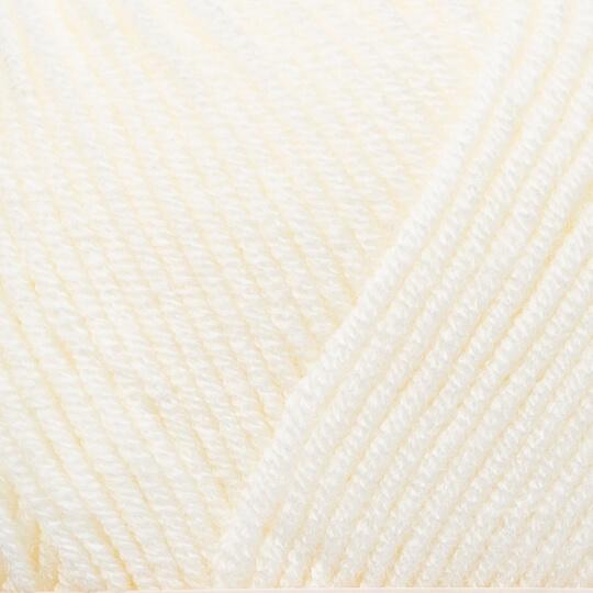 Kartopu Ak-Soft Krem El Örgü İpi - K0021