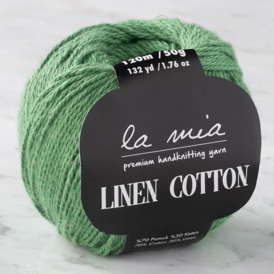 La Mia Linen Cotton Yeşil El Örgü İpi - L113