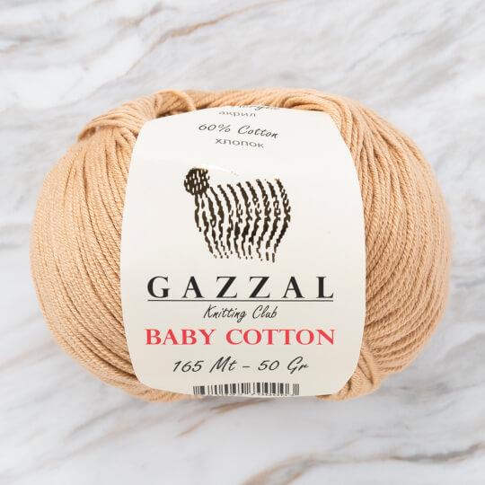 Gazzal Baby Cotton Koyu Bej Bebek Yünü - 3424