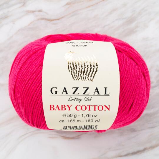 Gazzal Baby Cotton Fuşya Bebek Yünü - 3415
