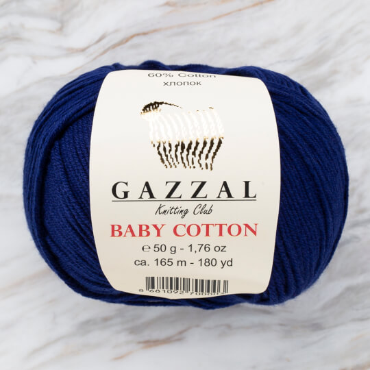 Gazzal Baby Cotton Lacivert Bebek Yünü - 3438