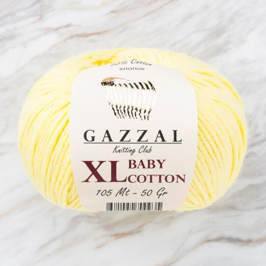 Gazzal Baby Cotton XL Sarı Bebek Yünü - 3413XL