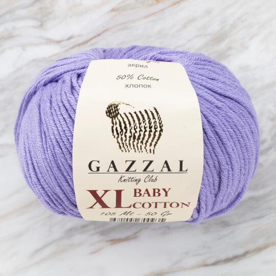 Gazzal Baby Cotton XL Lila Bebek Yünü -3420XL