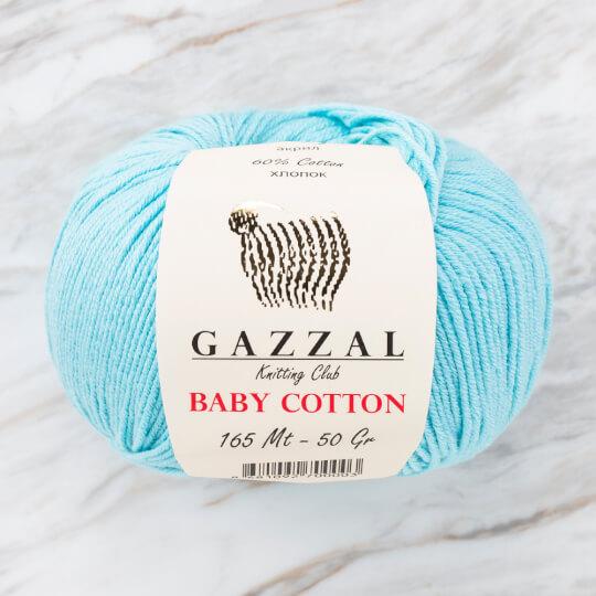 Gazzal Baby Cotton Turkuaz Bebek Yünü - 3452