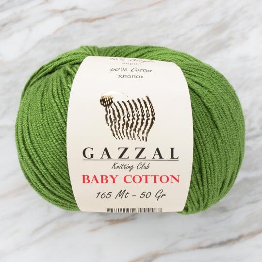 Gazzal Baby Cotton Yeşil Bebek Yünü - 3449