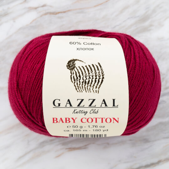 Gazzal Baby Cotton Bordo Bebek Yünü - 3442