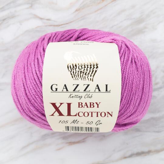 Gazzal Baby Cotton XL Lila Bebek Yünü - 3414XL