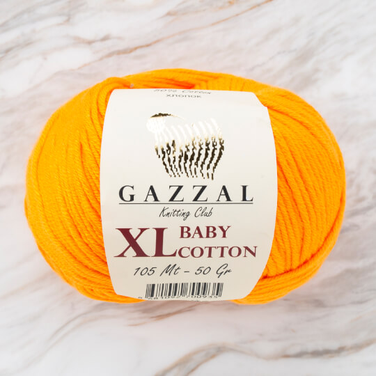 Gazzal Baby Cotton XL Açık Turuncu Bebek Yünü - 3416XL
