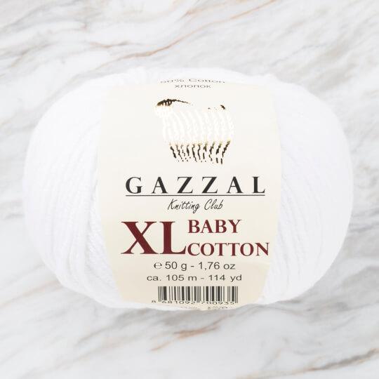Gazzal Baby Cotton XL Beyaz Bebek Yünü -3432XL