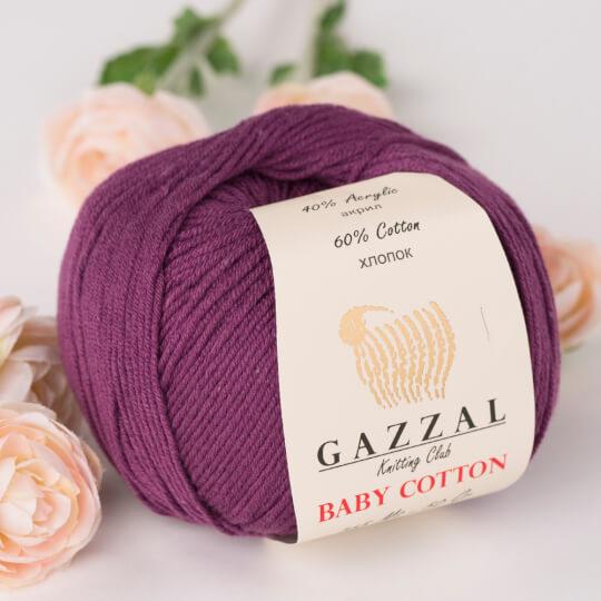 Gazzal Baby Cotton Mürdüm Bebek Yünü - 3441