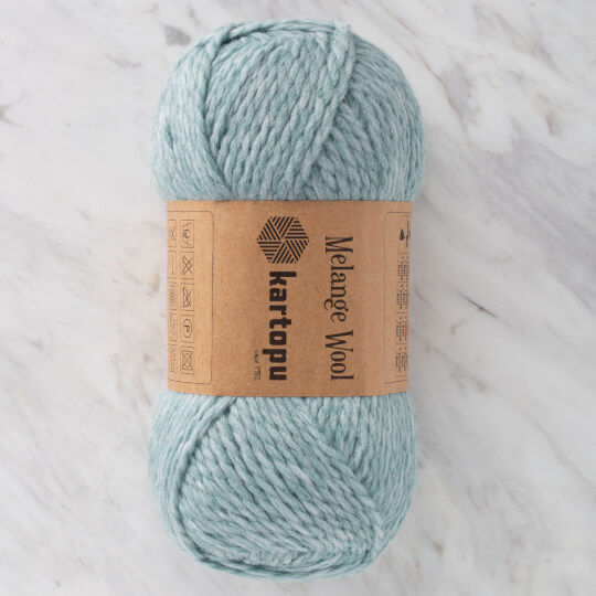 Kartopu Melange Wool Açık Yeşil El Örgü İpi - MK00480