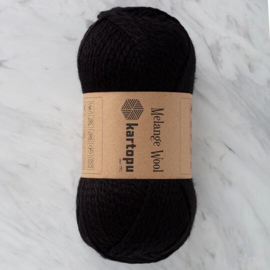 Kartopu Melange Wool Siyah El Örgü İpi - K940
