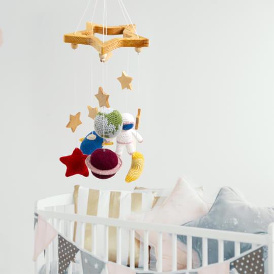 Hobi Baby Beşik Dönencesi Ahşap Yıldız Seti