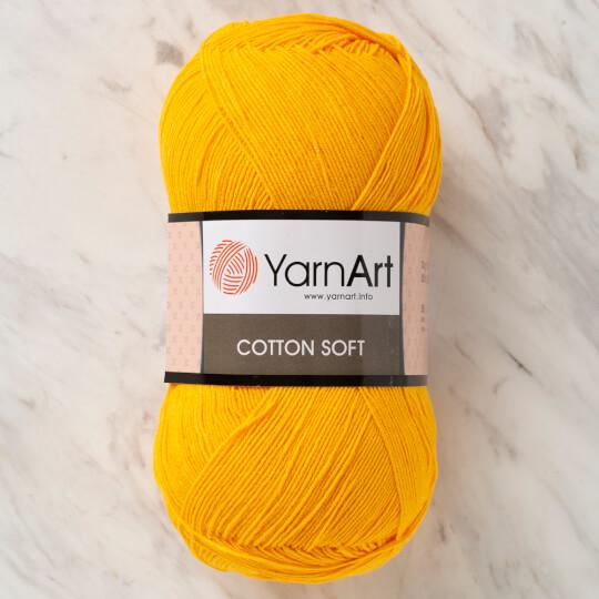 YarnArt Cotton Soft Hardal Sarısı El Örgü İpi - 35