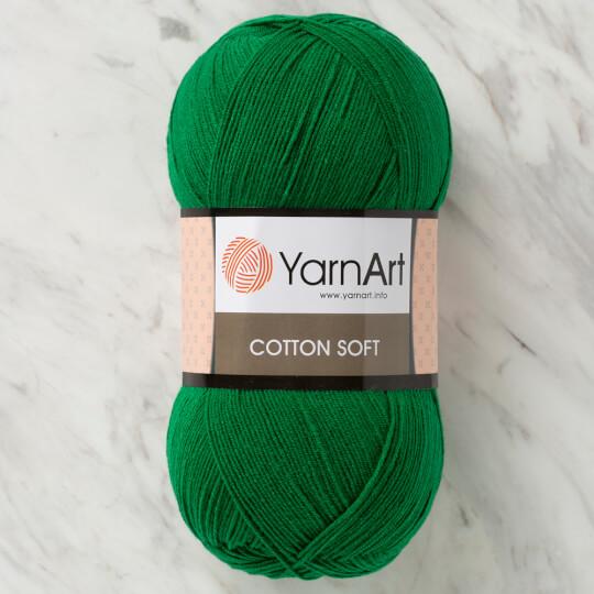 YarnArt Cotton Soft Koyu Yeşil El Örgü İpi - 52