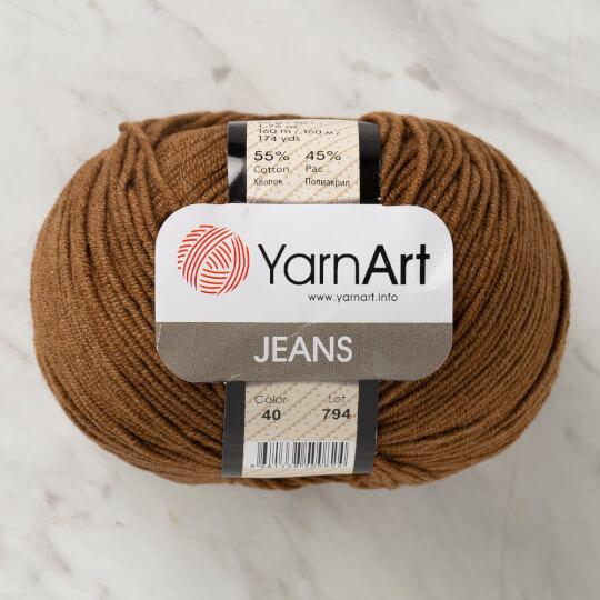 YarnArt Jeans Kahverengi El Örgü İpi - 40