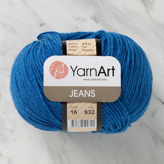 YarnArt Jeans Mavi El Örgü İpi - 16