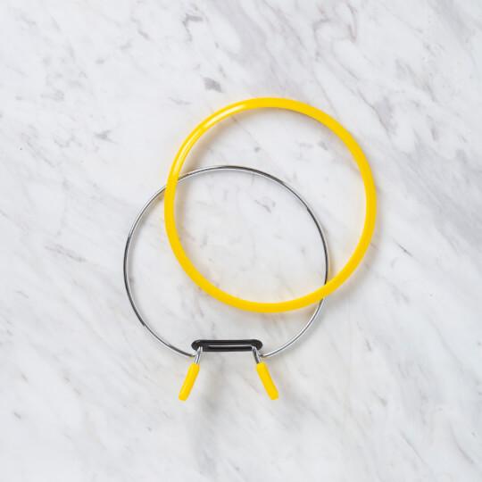 Nurge 126 mm Sarı Orta Metal Nakış Kasnak