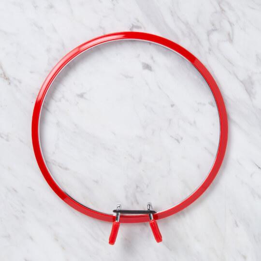 Nurge 195 mm Kırmızı Büyük Boy Metal Nakış Kasnak