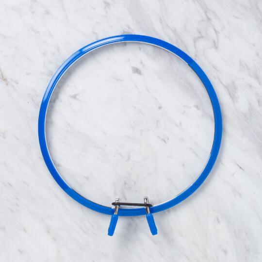 Nurge 195 mm Mavi Büyük Boy Metal Nakış Kasnak