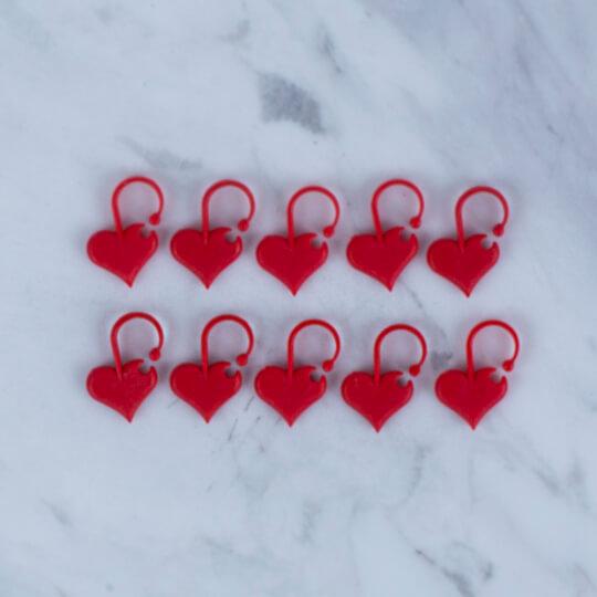 Addi Love 10'lu Kalp İlmek İşaretleyici - 407-7