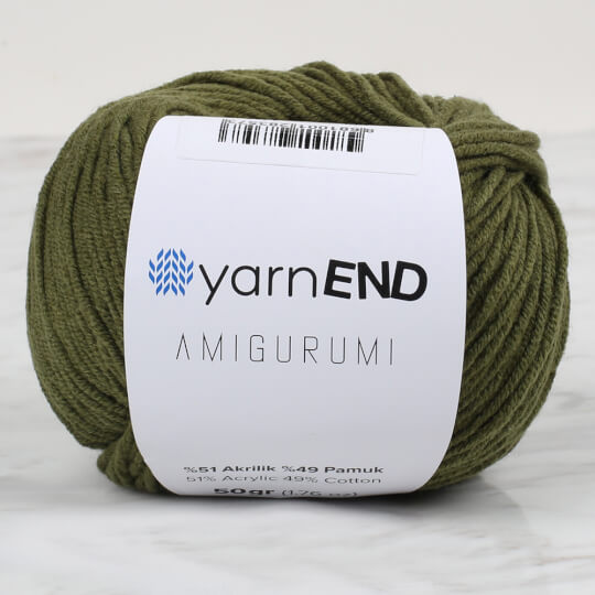 YarnEND Amigurumi Asker Yeşili El Örgü İpi - 026