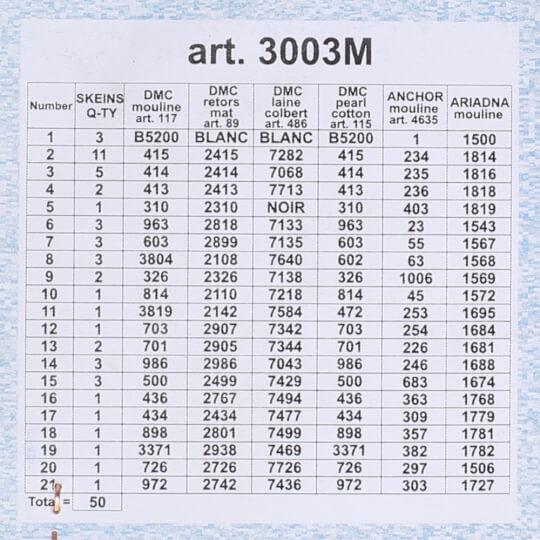 ORCHİDEA 40 x 50 cm Gül Demeti Baskılı Goblen 3003M