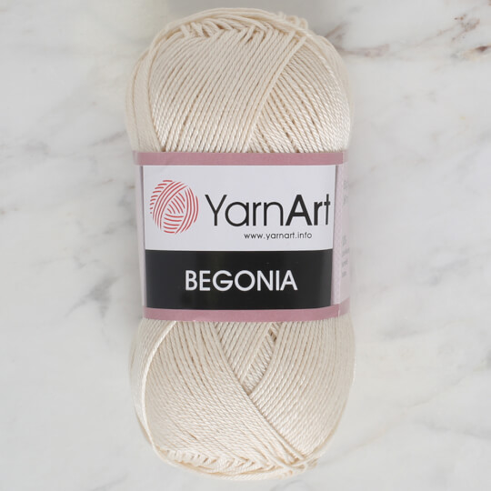 YarnArt Begonia 50gr Beyaz El Örgü İpi - 6194