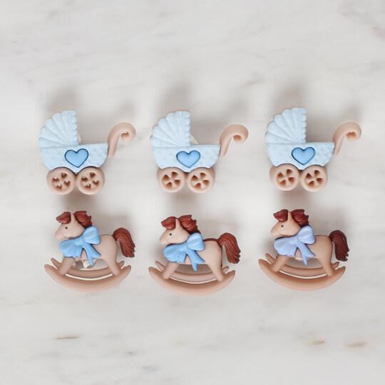 Dress It Up At ve Bebek Arabası Dekoratif Düğme - 5823