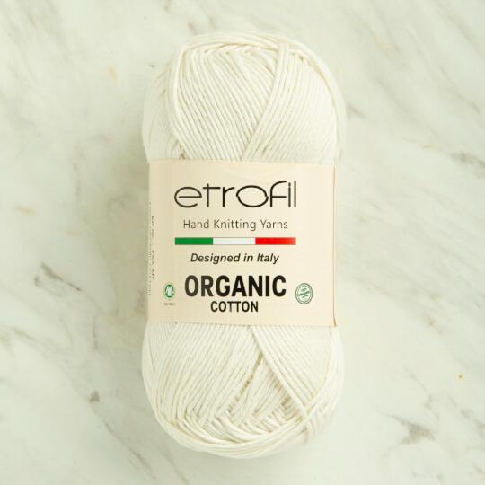 Etrofil Organic Cotton 50gr Beyaz El Örgü İpi - EB036