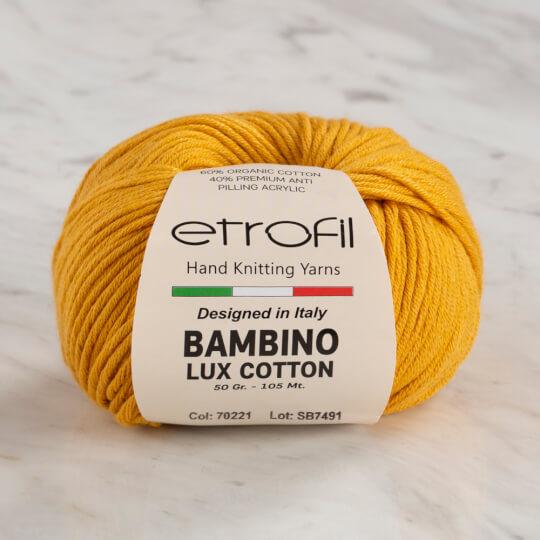 Etrofil Bambino Lux Cotton Sarı El Örgü İpi - 70221