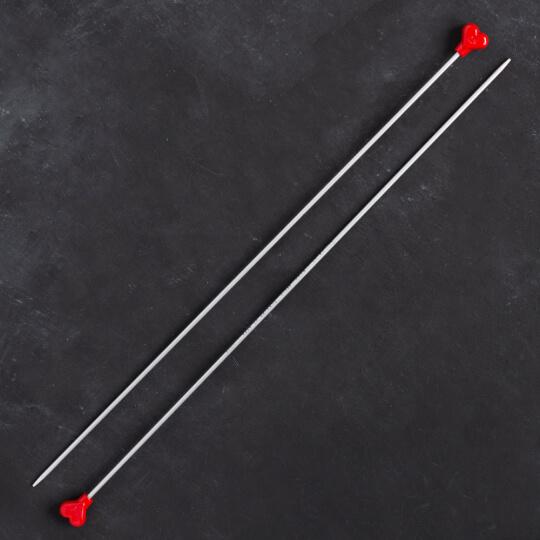 Addi Kalpli 2,5mm 35cm Klasik Alüminyum Örgü Şişi - 200-7