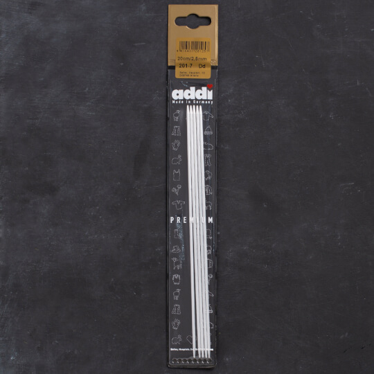 Addi 2,5mm 20cm 5'li Çorap Şişi - 201-7